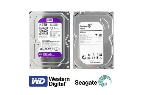 HDD Жесткий диск объемом 2ТБ (терабайт) для системы видеонаблюдения (Purple, Surveillance)