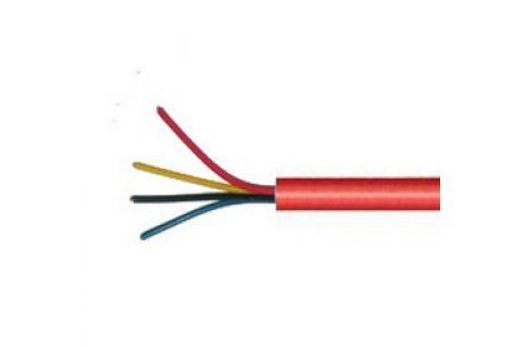 Купить AS-CAB004 нг (А) LS 4х 0.22 мм² сигнальный многожильный медный провод для охранной и пожарной сигнализации и прокладке электричества красного цвета, производитель ramcro