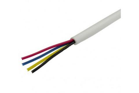 Купить сигнальный многожильный кабель для видеодомофона ES-04-022 4х 0.22 мм² (белый) ELETEC в СПб