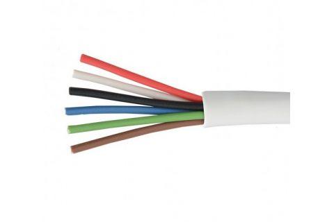 Купить сигнальный многожильный кабель для видеодомофона ES-06-022 6х 0.22 мм² (белый) ELETEC в СПб
