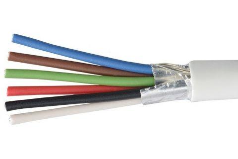 Купить сигнальный многожильный экранированный кабель для видеодомофона ES-06S-022 6х 0.22 мм² (белый) ELETEC в СПб