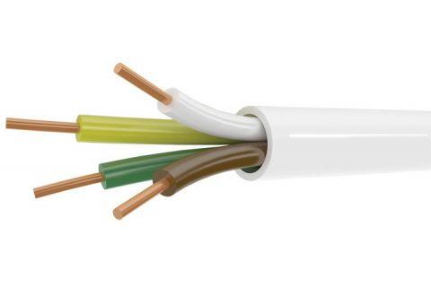 Купить сигнальный моножильный провод для охранной и пожарной сигнализации и прокладке электричества КСПВ 4х 0.5 мм² белого цвета, производитель ELETEC