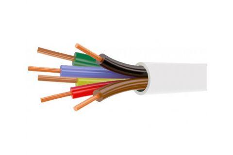 Купить сигнальный моножильный провод для охранной и пожарной сигнализации и прокладке электричества КСПВ 6х 0.5 мм² белого цвета, производитель ELETEC