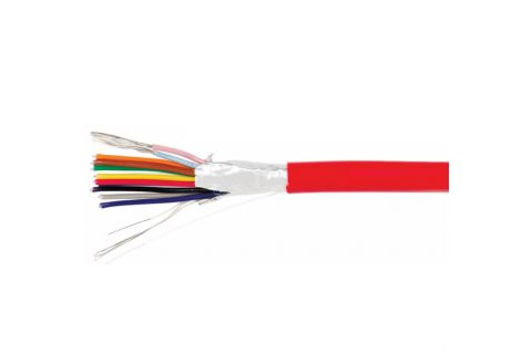 Купить КСВЭВнг (А) LS 12х 0.22 мм² сигнальный многожильный медный провод для охранной и пожарной сигнализации и прокладке электричества красного цвета, производитель ELETEC