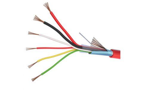 Купить КСВЭВнг (А) LS 6х 0.22 мм² сигнальный многожильный медный провод для охранной и пожарной сигнализации и прокладке электричества красного цвета, производитель ELETEC