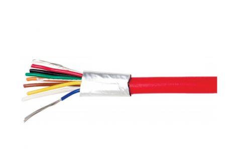 Купить КСВЭВнг (А) LS 8х 0.22 мм² сигнальный многожильный медный провод для охранной и пожарной сигнализации и прокладке электричества красного цвета, производитель ELETEC
