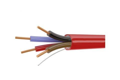 Купить КСВВнг (A) ls 4х 0.5 мм² сигнальный моножильный медный провод для охранной и пожарной сигнализации и прокладке электричества красного цвета, производитель ELETEC
