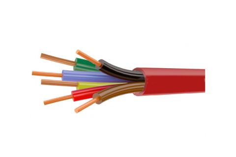 Купить КСВВнг (A) ls 6х 0.5 мм² сигнальный моножильный медный провод для охранной и пожарной сигнализации и прокладке электричества красного цвета, производитель ELETEC