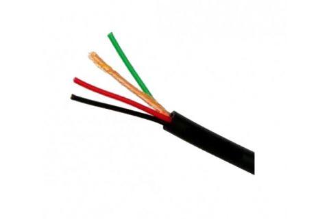 Купить сигнальный многожильный кабель для видеодомофона ШВЭВ 4х0.2 мм² наружный (черный) ELETEC в СПб