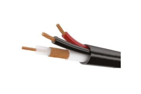 Купить сигнальный многожильный кабель для видеодомофона ШВЭВ 3х0.2 мм² наружный (черный) ELETEC в СПб