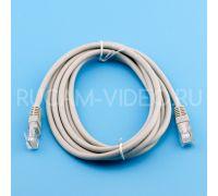 Патч-корд UTP cat 5e, литой (molded), rj45-rj45 серый, 1 м