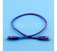 Патч-корд литой UTP 4 Cat.6 0.5 метра фиолетовый QIMZ