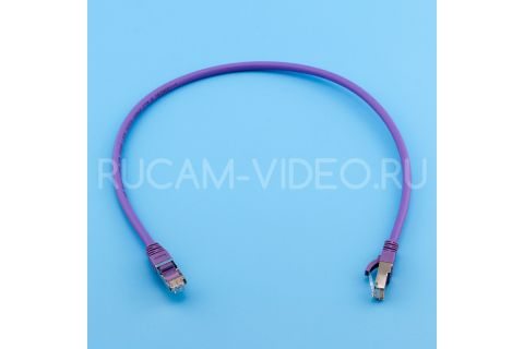 Фиолетовый патч-корд LSZH rj45-rj45