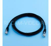 Патч-корд литой UTP 4 Cat.5e 1.5 метра черный QIMZ
