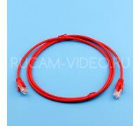 Патч-корд литой UTP 4 Cat.5e 1.5 метра красный Netko