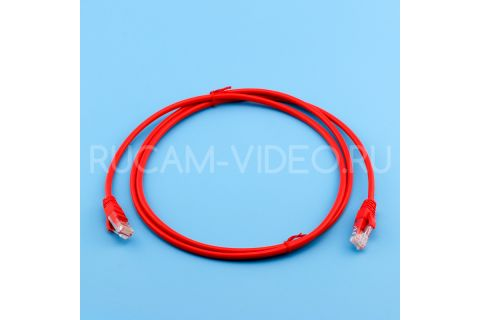 Купить литой красный патч-корд rj45-rj45