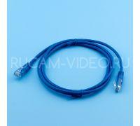 Патч-корд литой UTP 4 Cat.6 1.5 метра синий QIMZ