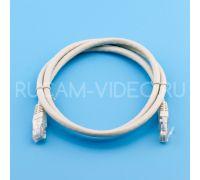Патч-корд литой UTP 4 cat.6 1 метр серый Technolink