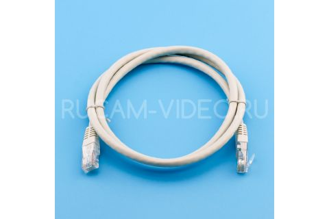 Патч-корд 1 метр rj45-rj45 серый