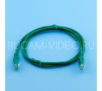 Патч-корд литой UTP 4 Cat.6 1 метр зеленый QIMZ