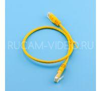 Патч-корд литой UTP 4 Cat.6 0.5 метра желтый QIMZ