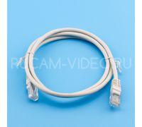 Патч-корд литой UTP 4 Cat.5e 1 метр серый Cabletech