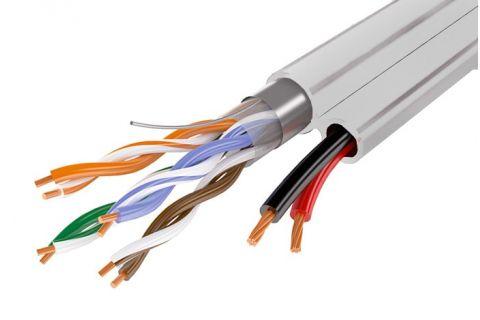 FTP 5E 4x2x0.5 + 2x0.75 - Экранированная витая пара , серого цвета, бухта, 200м, категории 5e, производитель Eletec