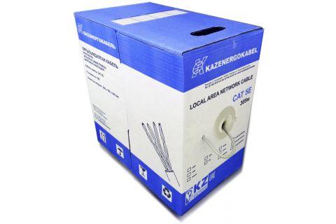 U/UTP Казэнергокабель cat.5e 4x2x0.48 (Solid, AWG 24) - Неэкранированная витая пара , для внутренней прокладки, серого цвета, бухта, 305м, категории 5e, производитель Kazenergokabel