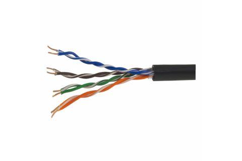 UTP 5E Gosnip 4x2x0.52 (уличный) - Неэкранированная витая пара , черного цвета, для внешней прокладке, бухта, 305м, категории 5e, производитель ГОСНИП - Республика Беларусь