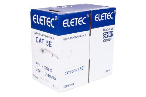 UTP 5E Eletec 2x2xAWG24 - Неэкранированная витая пара , серого цвета, бухта, 305м, категории 5e, производитель ELETEC
