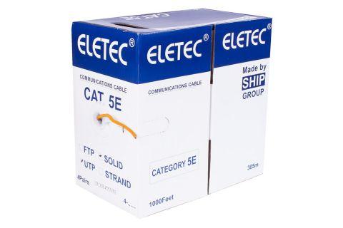 UTP 5E Eletec 4x2xAWG24 нг(А)-HF - Неэкранированная витая пара , противопожарный, оранжевого цвета, бухта, 305м, категории 5e, производитель ELETEC