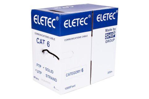 UTP 6 Eletec 4x2xAWG24 - Неэкранированная витая пара , черного цвета, бухта, 305м,6-ой категории, производитель ELETEC