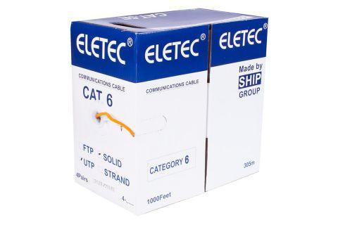 UTP 6 Eletec 4x2xAWG24 нг(А)-HF - Неэкранированная витая пара , противопожарный, оранжевого цвета, бухта, 305м,6-ой категории, производитель ELETEC
