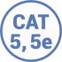 Кабель витая пара 5 и 5e категории UTP FTP