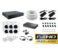 Комплект видеонаблюдения Office IP-6 на 6 купольных камеры [2Mp]