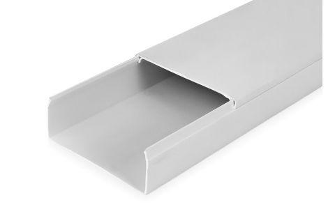 Кабель-канал 100х40 ПВХ белый, 2м, для прокладки кабеля