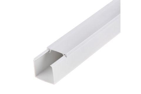 Кабель-канал 12х12 ПВХ белый, 2м, для прокладки кабеля