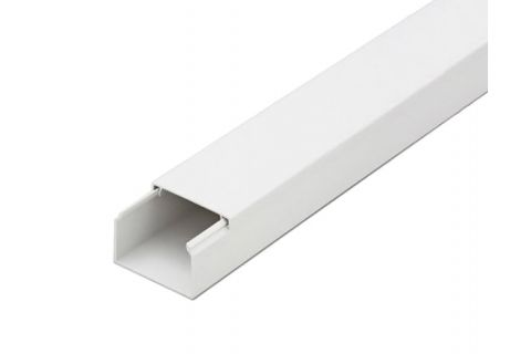 Кабель-канал 20х10 ПВХ белый, 2м, для прокладки кабеля