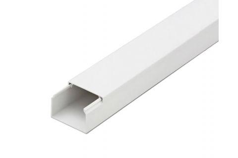 Кабель-канал 25х16 ПВХ белый, 2м, для прокладки кабеля