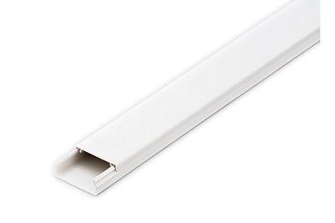 Кабель-канал 40х16 ПВХ белый, 2м, для прокладки кабеля