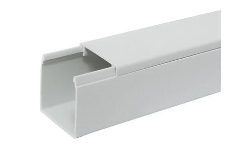 Кабель-канал 60х60 ПВХ белый, 2м, для прокладки кабеля