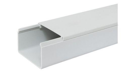 Кабель-канал 80х60 ПВХ белый, 2м, для прокладки кабеля