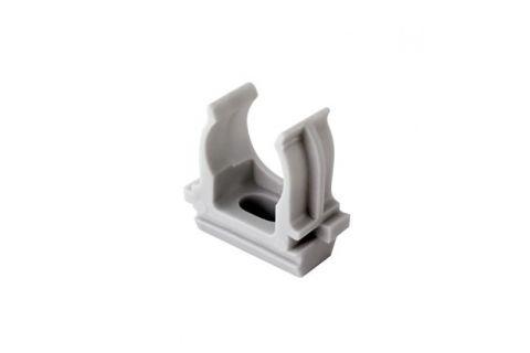 Крепеж-клипса для труб 20мм, упаковка 100шт, цвет серый,из АБС-пластика