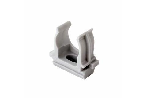 Крепеж-клипса для труб 32мм, упаковка 25шт, цвет серый,из АБС-пластика