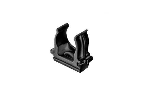 Крепеж-клипса для труб 16мм, упаковка 100шт, цвет черный,из АБС-пластика