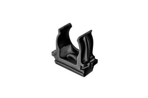 Крепеж-клипса для труб 20мм, упаковка 100шт, цвет черный,из АБС-пластика