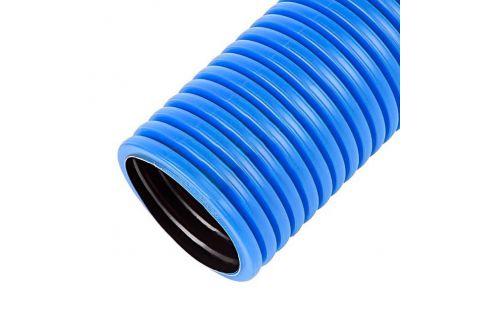 Труба гофрированная ПЭ 50 тип 250, без зонда, бухта 100м, цвет синий