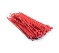 Стяжки кабельные нейлоновые 140х3,6 TR (красная) - 100 шт.