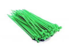 Стяжки кабельные нейлоновые 140х3,6 UV (зеленая) - 100 шт.