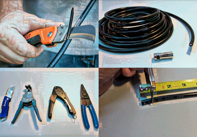 Зачищаем и обжимаем анетенный тв кабель
